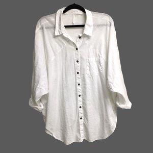 MARKS & SPENCER Oversized Button Shirt White L/XL